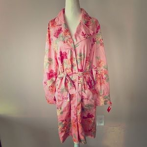 NWT OILILY Pink floral Jacket with belt